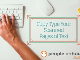 Copy type up to 10 pages of scanned text