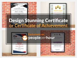 Design STUNNING certificate or achievement for you