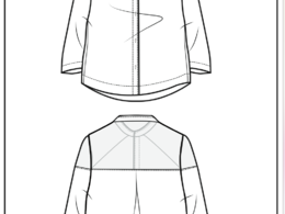 Fashion flat drawing (Illustrator CAD)
