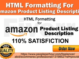 Do HTML Formatting For Amazon Product Listing Description