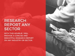 Market Research or Competitor Analysis