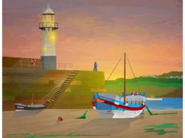 Create you a stunning vector art landscape scene