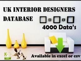 A comprehensive database of UK interior designer database 4K