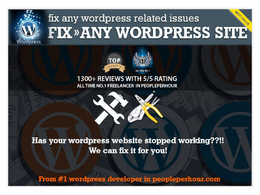 Wordpress fix /bugs or html fix [ From All Time No.1 Freelancer From PPH ]