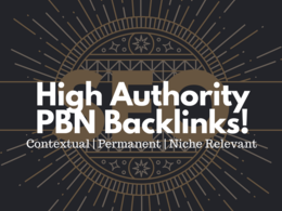 Build 5 high authority (TF 35+) niche relevant PBN links for SEO! (STRONG, PERMANENT)