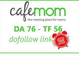 Publish a guest post on Cafemom - DA76