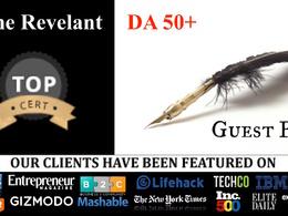 Guest posts on DA50+ blogs - Blogger outreach USA, UK, UAE sites
