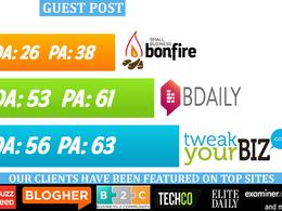 Publish guest post on SmallBizBonfire, BDaily & TweakYourBiz