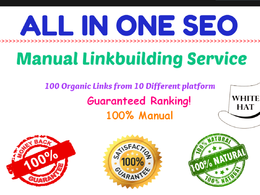 All In One Manual SEO Link Building Package - 100% Natural