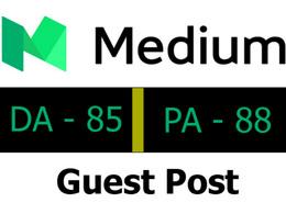 Publish a guest post on Medium.com (PA88, DA85)