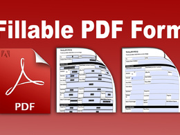 Create a Fillable PDF form within 24 hours