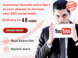 500 Youtube subscribers for your channel to increase your SEO social media