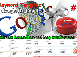 Provide  REAL SEO KEYWORD TARGETED  Traffic with Low Bounce Rate