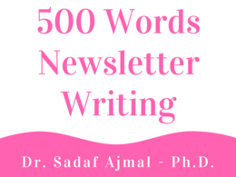 500 Words Newsletter Writing
