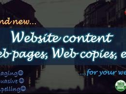 Write your website's content, web pages, web copies, etc. (3000 words)