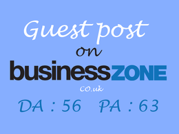 Write & publish a guest post on BusinessZone.co.uk (DA 56, PA 63) with Dofollow Link