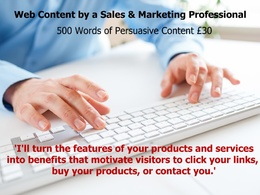 Write persuasive Web Content customised to your requirements