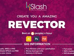 Convert low resolution logo into high resolution vector