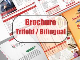 Design your professional trifold bilingual brochure