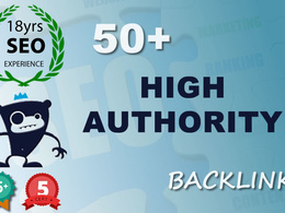 Boost your Google Rankings with 50 PR10 , High DA backlinks