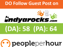 Write & Publish a guest post on indyarocks.com (DA 58, PA 64) with Dofollow link