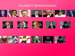 Do celebrity impersonation and cartoon character impersonation