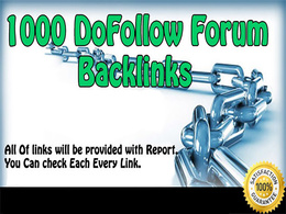 Create 1200 Forum Post Backlinks to get Loads of Traffic