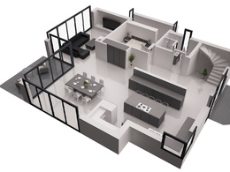 Render a 3D floor plan from your 2D plan or hand sketck