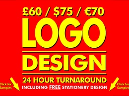ORIGINAL Logo Design - UNLIMITED Concepts & Revisions + FREE Stationery and Favicon