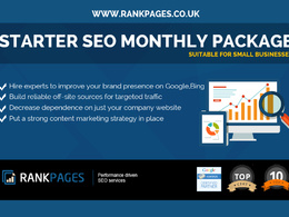Starter SEO Monthly package for small businesses  -1st Page Google Guarantee