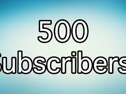 500+ Real YouTube subscribes for your youtube Ranking