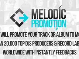 Promote your Track or Album to more than 20.000 TOP DJs Producers & Record Labels