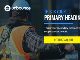 Create a Landing Page or Squeeze Page using Unbounce