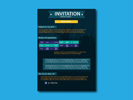Design Invitation for your Party/Wedding or any Event