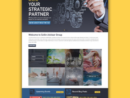Design home page mockup (layered PSD) in one day