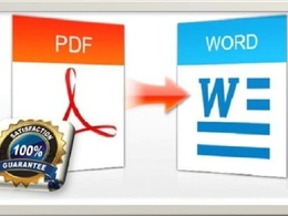 Convert PDF to word by typing 30 pages document