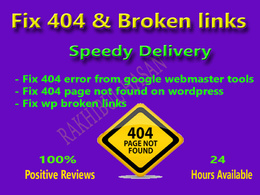 Fix 404 error & broken links on wordpress and google webmaster tools in Asap