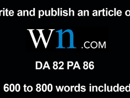 Write and Publish guest post on wn.com World News DA 85