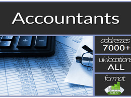 Give you Email Mailing List of  Accountants in the UK with 7000 plus records