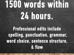 Edit and proofread 1500 words