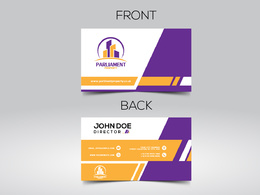 Design unique double sided business card with unlimited revisions