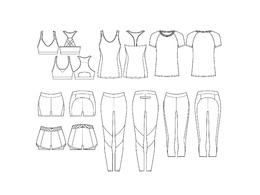 Create technical CAD drawing of garment using Illustrator