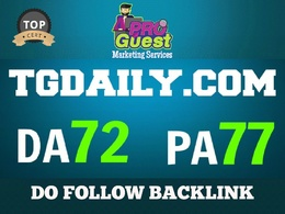 Publish an Exclusive guest post on TGDAILY. TGDAILY.COM DA 72 PA77
