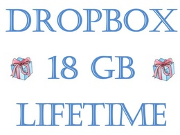 Sell 5x Dropbox account with 18GB lifitime space