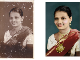 Restore an image,  professional photo restoration