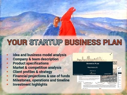 Create a professional investor-ready business plan w/ financials for a future unicorn