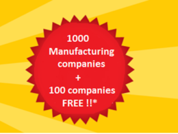 1000 manufacturing companies in UK