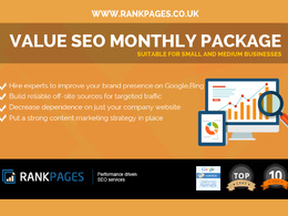 Value SEO Monthly package for small & medium businesses -1st Page Google Guarantee
