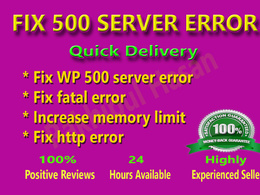 Fix 500 internal server error from Wordpress  within an hour