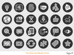 Create upto 10 simple custom icons for your website